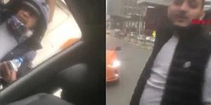 Yol Kesip Evrak Kontrolü Yapan Taksici!