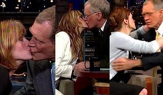 Julia Roberts ve David Letterman'ın Tesadüfen Başlayan Ancak Her Programda Gelenek Haline Gelen Öpüşme Ritüelleri!