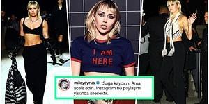 Miley Cyrus Yanlışlıkla Açılan Memesini 'Instagram Kaldırmadan Bakın' Notu ile Kendi Hesabında Paylaştı!