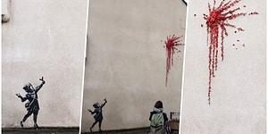 Bristol'de Bulunan Duvar Resminin Banksy'ye Ait Olduğu Kendisi Tarafından 'Sevgililer Gününde' Onaylandı