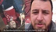 Kızının Korkmaması İçin Bomba Seslerini Oyuna Dönüştüren Suriyeli Baba!