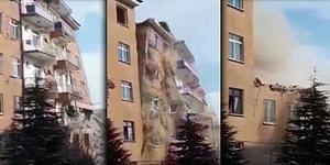 Elazığ Bugün de Sallandı: 4.2'lik Depremin Meydana Geldiği Bölgede Daha Önce Hasar Gören Bir Bina Böyle Yıkıldı!