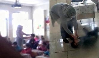 Görevden Alındı: İlkokul Öğrencilerini Tokatlayıp, Yerde Sürükleyen Öğretmene Soruşturma