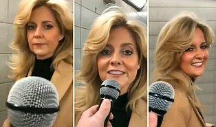Sokaktaki İnsana Mikrofonu Uzatarak Şarkı Sözünü Devam Ettirmesini İsteyen Kişinin Kaydettiği Büyülü Anlar!
