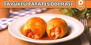 Bildiğiniz Dolma Tariflerini Unutun! Enfes İç Harcıyla Tavuklu Patates Dolması Nasıl Yapılır?