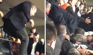 Fenerbahçe Başkanı Ali Koç, Kendisine Küfür Eden Taraftarların Arasına Atladı!