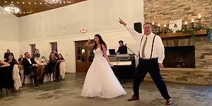 Evlenen Kızıyla Birlikte Muhteşem Bir Düğün Dansına İmza Atan Baba!