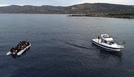 Sahil Güvenlik Tarafından Kurtarıldılar: Yunanistan'a Geçmeye Çalışan Göçmenlerin Teknesi Su Aldı