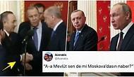 Erdoğan'ın Moskava Görüşmesinden Sonra Çavuşoğlu ile Tokalaşması Goygoycuların Diline Düştü