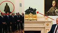 Putin Erdoğan Görüşmesinde Kameralara Yansıyan Katerina Heykeli Mesaj mı İçeriyor?
