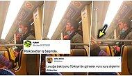 Tüm Dünya Koronavirüs Alarmına Geçmişken Elini Yalayıp Metro Direğine Süren Adam Sosyal Medyayı Ayaklandırdı!