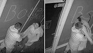 Sevgilisine Kızan Kadın Kafa Attığı Camdan İçeri Düşerken Adam Arkasını Dönüp Gitti