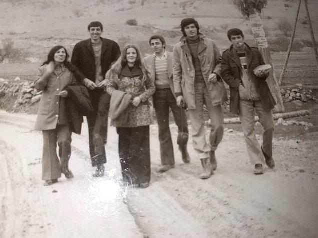 17. Emet Kayıköy İlkokulu'nun öğretmenleri, Kütahya, 1970.