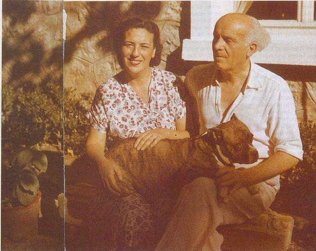 23. Galatasaray'ın kurucusu Ali Sami Yen ve eşi Fahriye Yen, 1950.