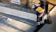 İstanbul'da Bir Temizlik Personeli Çöp Atıp Fotoğrafını Çekti: 'Bu Zor Günlerde Bile Trollük Yapanları Kınıyoruz'