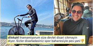 Hacı Sabancı, Açık Havada Spor Yapmasına Tepki Gösteren Takipçisine Verdiği Cevapla Biz Fakirleri Dumura Uğrattı