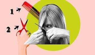 Kuaförlerin Kapanması Güzelleşmeye Engel Değil! Kendinizin de Evde Çok Kolay Yapabileceği Saç Kesim İncelikleri