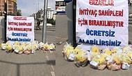 Ankara'da Bir Yardımsever Şehrin 9 Ayrı Bölgesine 500 Adet Yardım Paketi Bıraktı