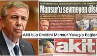 Mansur Yavaş Yeni Akit'e Sağlık Kiti Göndermeyince Akit'in Gazeteye Attığı Manşet Bomba Etkisi Yarattı