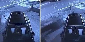 Gecenin Bir Vakti Eline Tükürüp Araba Kollarına Dokunan Kişi Güvenlik Kameralarına Yakalandı