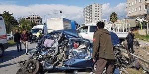 Hatay'da Freni Boşalan TIR Uygulama Noktasında Bekleyen Araçlara Çarptı: 5 Ölü, 21 Yaralı