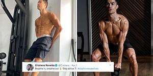 Evinden Yaptığı İlham Verici Paylaşımlarla Karantinamızı Yakıp Kavuran Topçu: Cristiano Ronaldo