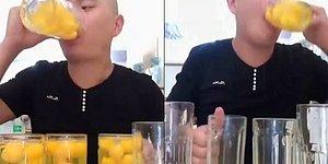 15 Saniyede 50 Yumurtayı İçen Rahatsız Adam