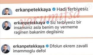 Erkan Petekkaya'nın Instagram Hesabından Ekrem İmamoğlu'na Yapılan Hakaretlerin Sebebi Belli Oldu