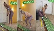 ABD'li Ünlü Golfçü Paige Spiranac, Karantinada Memeleriyle Golf Oynadı