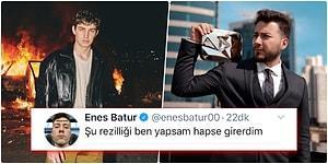 Birbirlerine Girdiler! Berkcan Güven'in Yeni Şarkısını Beğenmeyen Enes Batur Demediğini Bırakmadı!