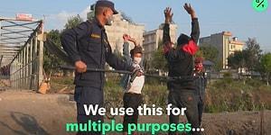 Sokağa Çıkma Yasağına Uymayanları Kıskaçla Yakalayan Nepal Polisi