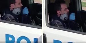 Polisten Vatandaşlara Şarkı: 'Çaresiz Derdimin, Sebebi Belli, Evde Kal, Evde Kal, Evde Kal Türkiyem'