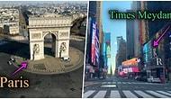 Karantina Süreciyle Dünyanın Çeşitli Yerlerinde Adeta Film Sahnelerine Dönüşen Boş Şehirler