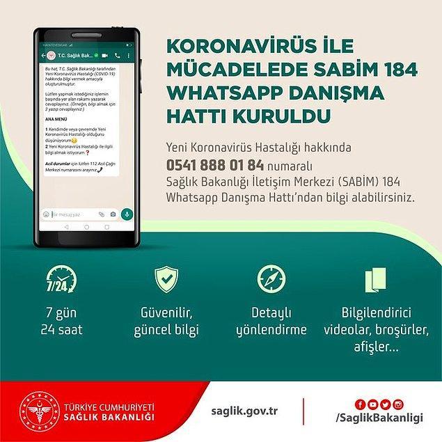 Sağlık Bakanlığı'ndan koronavirüs için 'WhatsApp Danışma Hattı'