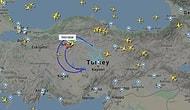 THY Uçağından 23 Nisan Jesti: Gökyüzüne Dünyanın En Büyük 'Türk Bayrağı' Çizildi