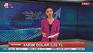 """A Haber 'Yarım Dolar 3.52 TL Oldu"""" Haberi Yaptı İddiası Sosyal Medyayı Salladı! Peki Haber Doğru Mu?"""
