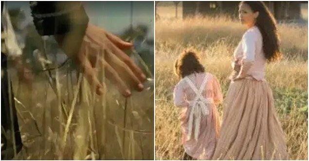 11. Serac'in çocukluğuna döndüğünde Serac'in uzun otlar arasında yürüdüğünü görüyoruz. Bu görüntü Maeve'in kızıyla gösterildiği o anlara çok benziyor.