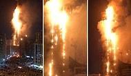 Birleşik Arap Emirlikleri'nde 48 Katlı Gökdelen Alev Topuna Döndü