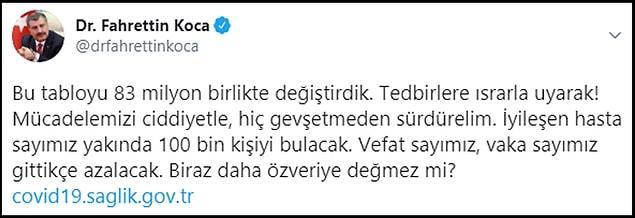 Türkiye'de Kovid-19'u Yenenlerin Sayısı 90 Bini Geçti