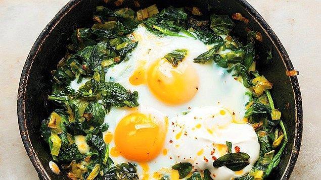 14. Ramazan pideleri yumurtayı patlatmaya hazırsa: Ispanaklı Yumurta