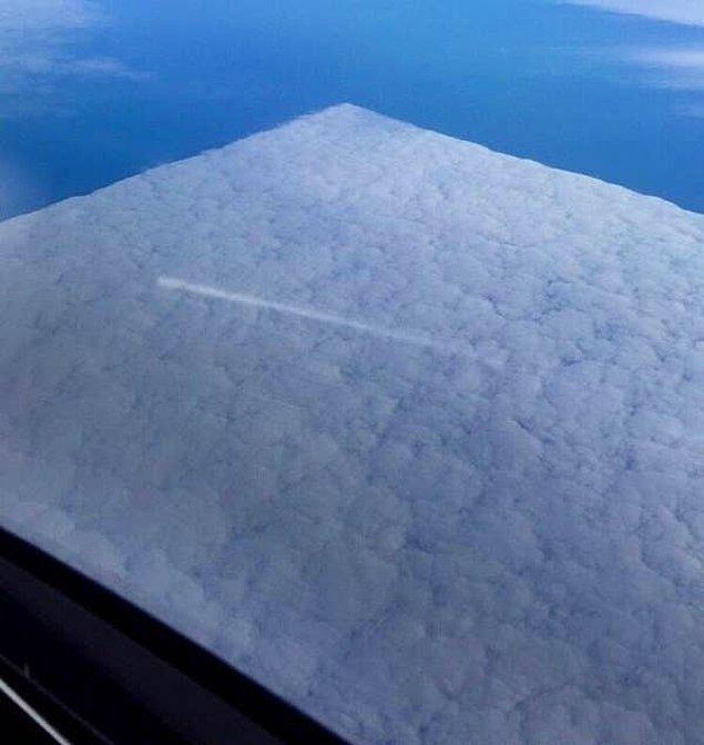 6. Gökyüzünden pamuk tabakası olarak gözüken bulutlar: