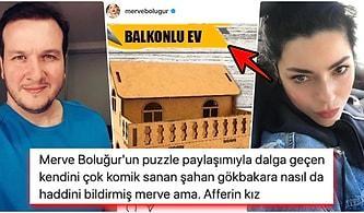 Merve Boluğur'un Yaptığı 20'lik Puzzle ile Dalga Geçen Şahan Gökbakar'a Ünlü Oyuncudan İmalı 'Balkon' Göndermesi Geldi!