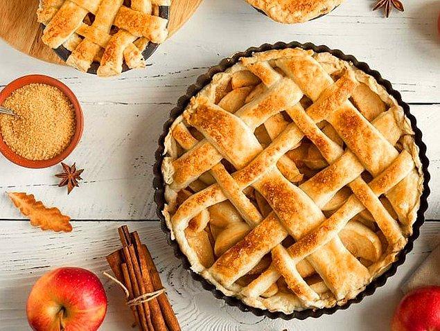 7. Gözlerden kalpler çıkaracak: Elmalı Tart