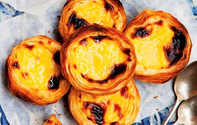4. Portekiz'in meşhur tatlısı Pastel de Nata, nam-ı diğer: Belem Turtası