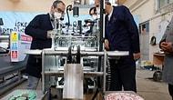 Hatay'da Meslek Lisesi Öğretmen ve Öğrencileri N95 ve Cerrahi Maske Makinesi Üretti