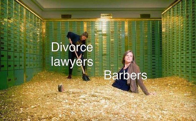 """13. """"Karantina bitince boşanma avukatları ve berberler temsili:"""""""