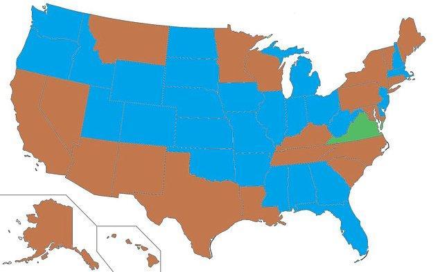 3. Amerika'daki eyaletlerin valilerinin göz renklerine göre dağılımı: