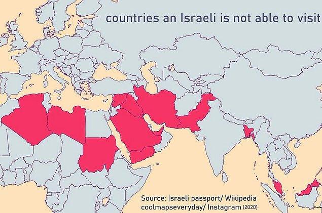 15. İsrail pasaportlarını reddeden ülkeler: