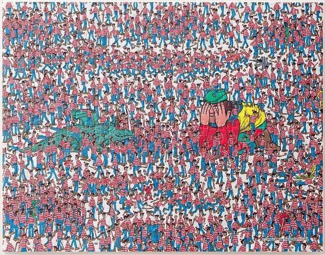 4. Gözlerinizi bir hayli yoracak olan bu Where's Waldo temalı puzzle: