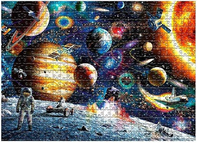 7. İçerisinde bir sürü detay barındıran 1000 parçalık uzay temalı puzzle: